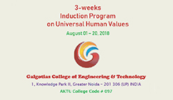 Induction Programme on Universal Human Values